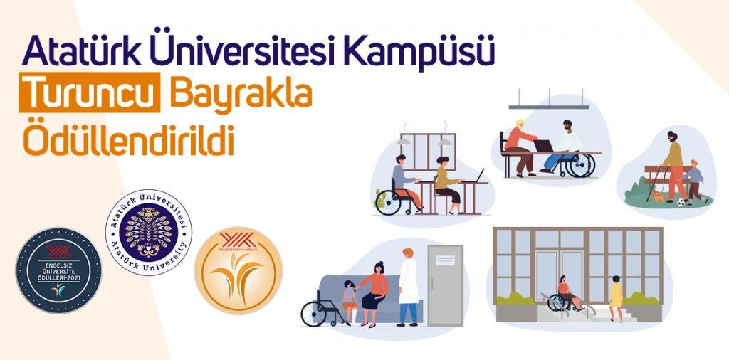 Atatürk Üniversitesi Kampüsü Turuncu Bayrakla Ödüllendirildi